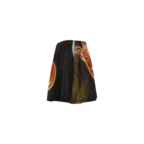 Wonderful antilope Mini Skating Skirt (Model D36)