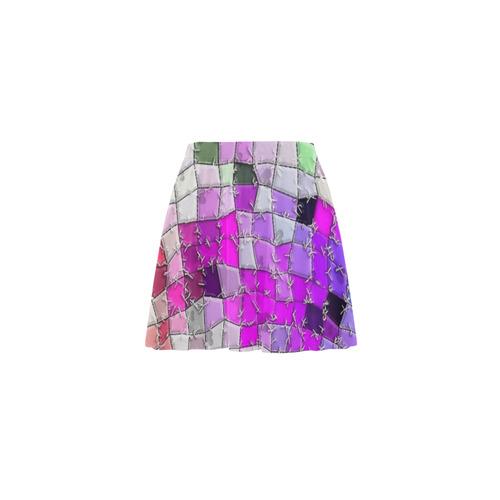 Abstrac by Nico Bielow Mini Skating Skirt (Model D36)