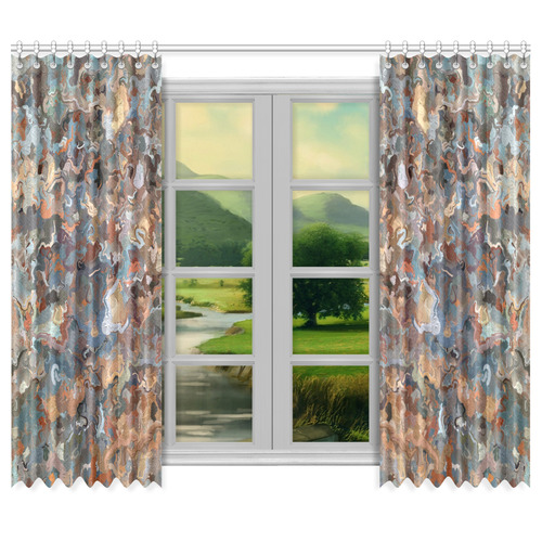 "Lacebark elm Tree Graphics #3508 Window Curtain 50""x84""(Two Piece)"