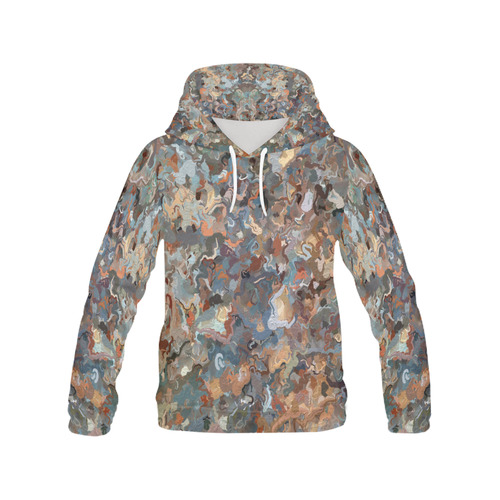 Lacebark elm Tree Graphics #3508 All Over Print Hoodie for Women (USA Size) (Model H13)