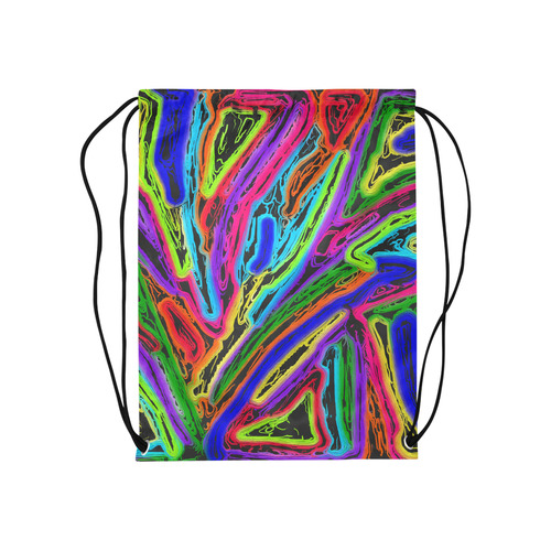 "Neon Black Magic Art - 9941 Medium Drawstring Bag Model 1604 (Twin Sides) 13.8""(W) * 18.1""(H)"