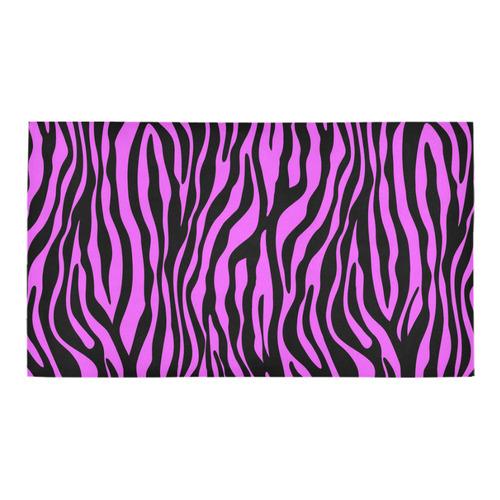 Zebra Stripes Pattern - Trend Colors Black Pink Bath Rug 16''x 28''