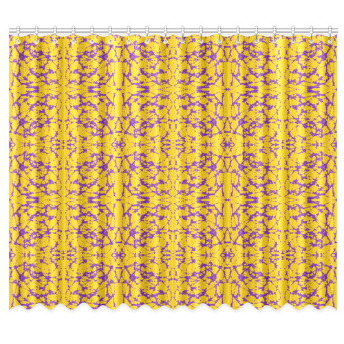 """Gold and Purple Astral Art Window Curtain 50""""x84""""(Two Piece)"""