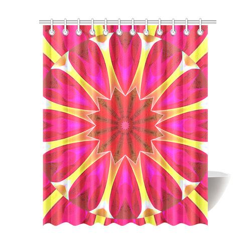 Cherry Daffodil Abstract Modern Pink Flowers Zen Shower Curtain