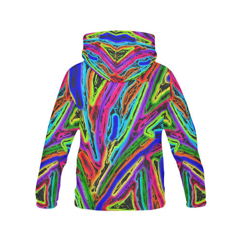 Neon Black Magic Art - 9941 All Over Print Hoodie for Women (USA Size) (Model H13)