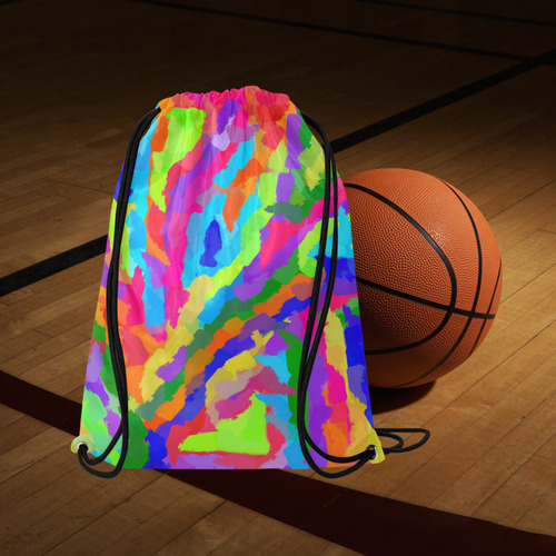 "Neon Magic Marker Art Medium Drawstring Bag Model 1604 (Twin Sides) 13.8""(W) * 18.1""(H)"