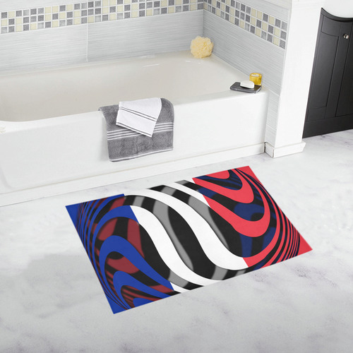 The Flag of France Bath Rug 20''x 32''