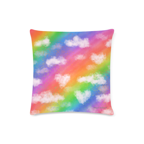"Rainbow Love. Inspired by the Magic Island of Gotland. Custom Zippered Pillow Case 16""x16""(Twin Sides)"