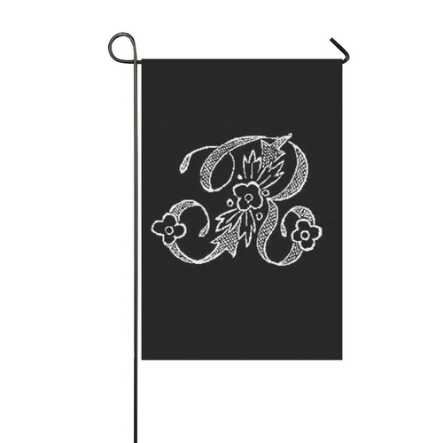 R Monogram Garden Flag 12''x18''(Without Flagpole)