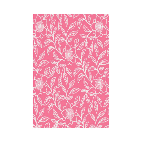 Vintage Lace Floral Pink Garden Flag 12''x18''(Without Flagpole)