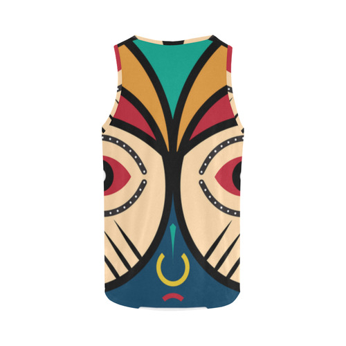 Round Tribal Mask All Over Print Tank Top for Women (Model T43)