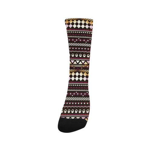 Gold N Maroon Tribal Pattern Trouser Socks