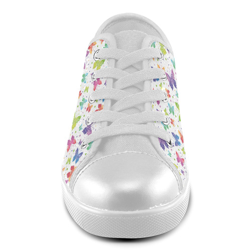 Colorful Butterflies Canvas Kid's Shoes (Model 016)