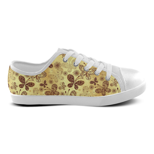 Beautiful Butterflies Canvas Kid's Shoes (Model 016)