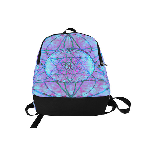 protection through an indigo wave Fabric Backpack for Adult (Model 1659)
