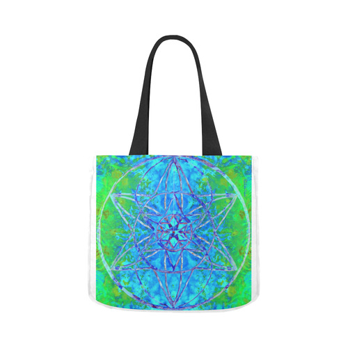 protection in nature colors-teal, blue and green Canvas Tote Bag 02 Model 1603 (Two sides)