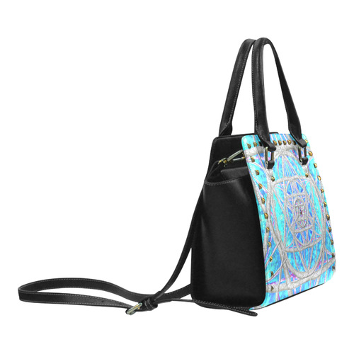 protection in blue harmony Rivet Shoulder Handbag (Model 1645)