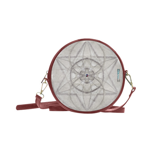 protection through fundamental mineral energy Round Sling Bag (Model 1647)