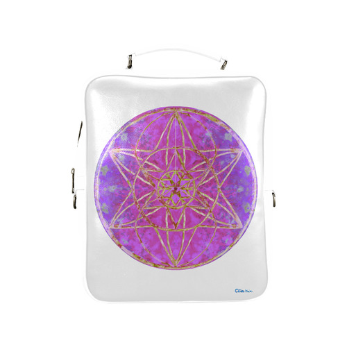 protection in purple colors Square Backpack (Model 1618)