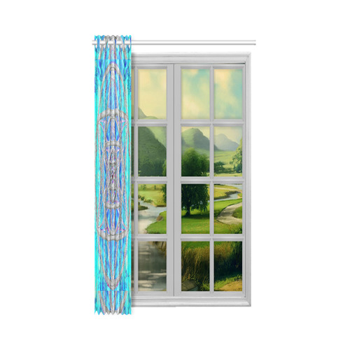 """protection in blue harmony New Window Curtain 52"""" x 63""""(One Piece)"""