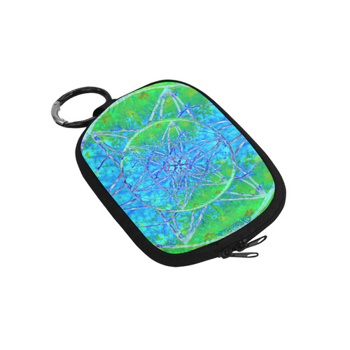 protection in nature colors-teal, blue and green Coin Purse (Model 1605)