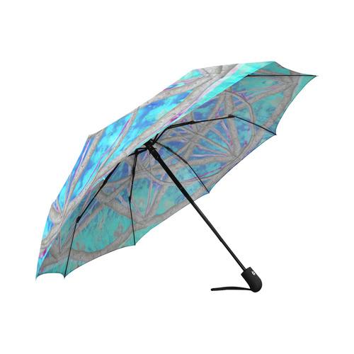 protection in blue harmony Auto-Foldable Umbrella (Model U04)