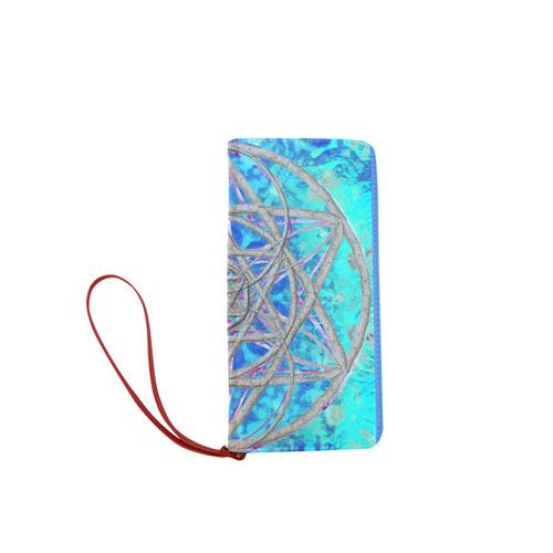 protection in blue harmony Women's Clutch Wallet (Model 1637)