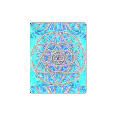 """protection in blue harmony Blanket 40""""x50"""""""