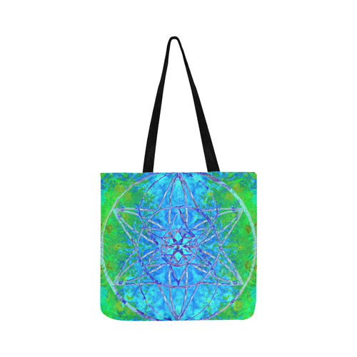 protection in nature colors-teal, blue and green Reusable Shopping Bag Model 1660 (Two sides)