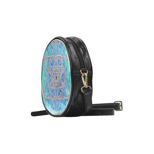 protection in blue harmony Round Sling Bag (Model 1647)
