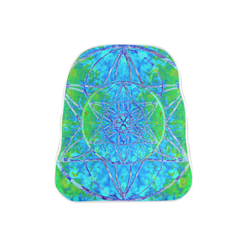 protection in nature colors-teal, blue and green School Backpack (Model 1601)(Small)