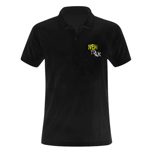 New York by Artdream Men's Polo Shirt (Model T24)