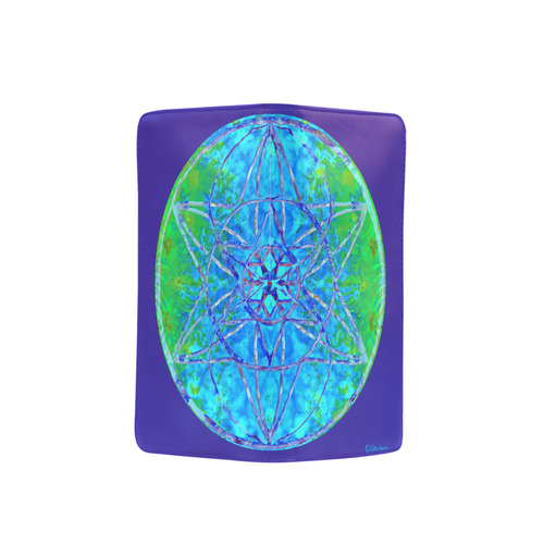 protection in nature colors-teal, blue and green Men's Clutch Purse (Model 1638)