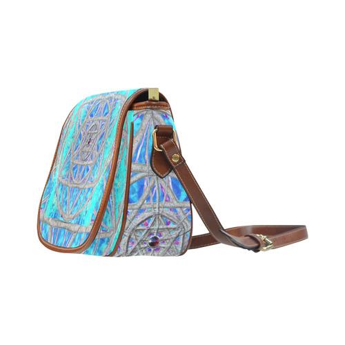 protection in blue harmony Saddle Bag/Small (Model 1649) Full Customization
