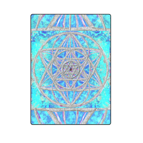 """protection in blue harmony Blanket 58""""x80"""""""