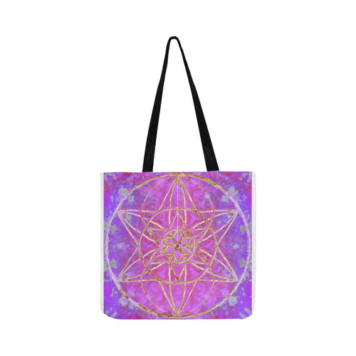 protection in purple colors Reusable Shopping Bag Model 1660 (Two sides)