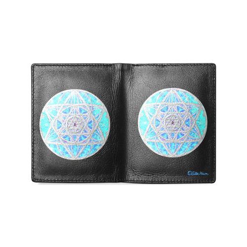 protection in blue harmony Men's Leather Wallet (Model 1612)