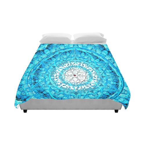 """Protection from Jerusalem in blue Duvet Cover 86""""x70"""" ( All-over-print)"""