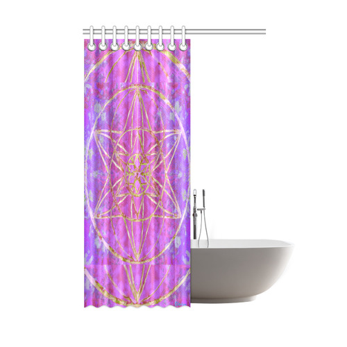 """protection in purple colors Shower Curtain 48""""x72"""""""