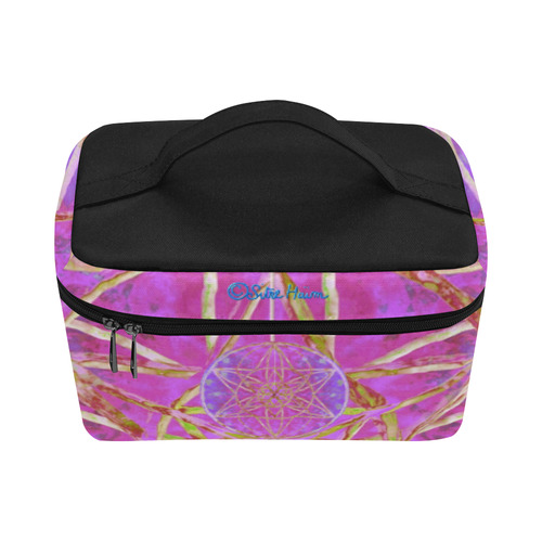 protection in purple colors Lunch Bag/Large (Model 1658)