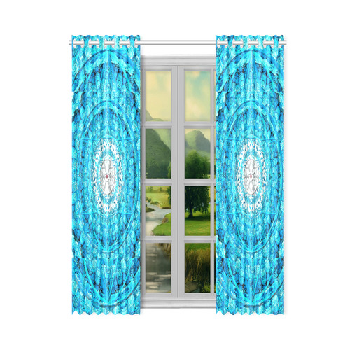 """Protection from Jerusalem in blue New Window Curtain 50"""" x 84""""(One Piece)"""
