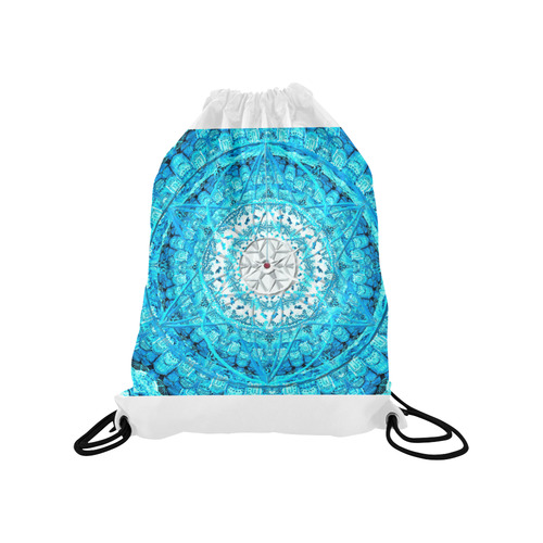 """Protection from Jerusalem in blue Medium Drawstring Bag Model 1604 (Twin Sides) 13.8""""(W) * 18.1""""(H)"""