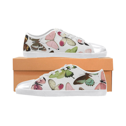 butterflies Women's Canvas Shoes (Model 016)