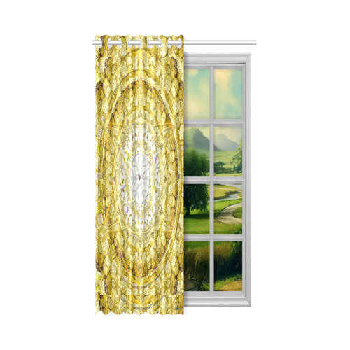 """protection from Jerusalem of gold New Window Curtain 52"""" x 63""""(One Piece)"""