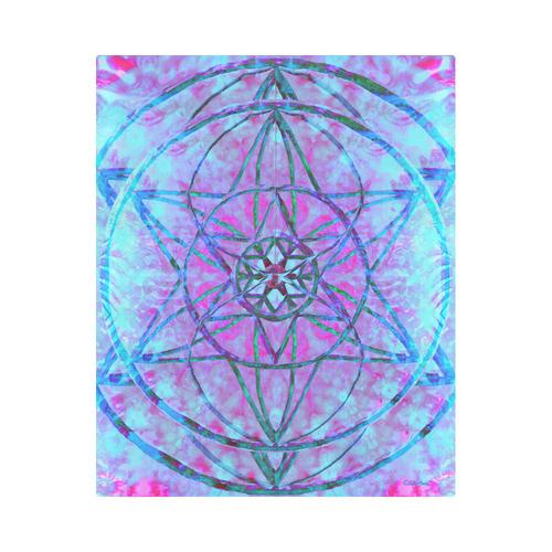 """protection through an indigo wave Duvet Cover 86""""x70"""" ( All-over-print)"""