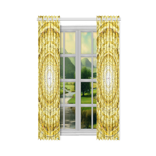 "protection from Jerusalem of gold New Window Curtain 50"" x 108""(One Piece)"