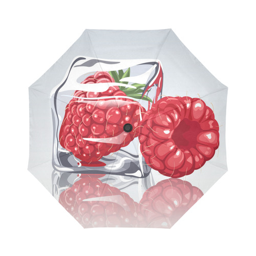 Ice Cube Raspberry Cool Summer Fruit Auto-Foldable Umbrella