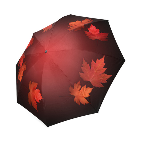 Autumn Leaves Umbrella Canada Souvenirs Foldable Umbrella