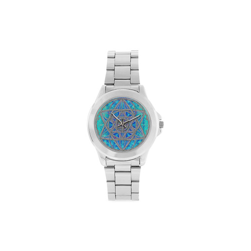 protection in blue harmony Unisex Stainless Steel Watch(Model 103)