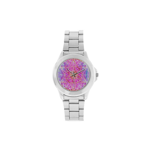 protection in purple colors Unisex Stainless Steel Watch(Model 103)